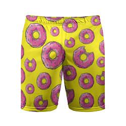 Шорты спортивные мужские Пончики Гомера цвета 3D — фото 1