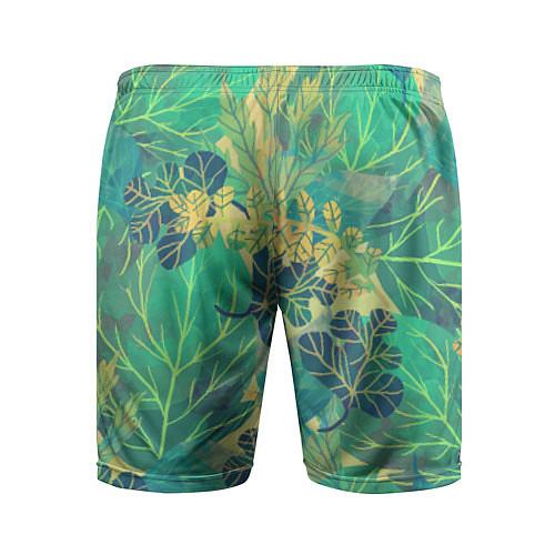 Мужские спортивные шорты Узор из листьев / 3D – фото 2