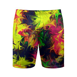 Шорты спортивные мужские Кислотный взрыв цвета 3D — фото 1