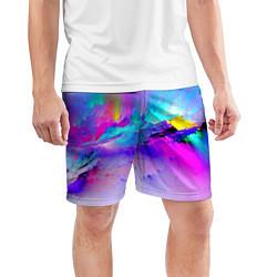 Шорты спортивные мужские Абстракция цвета 3D — фото 2