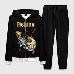Костюм мужской Gold Fishing цвета 3D-белый — фото 1
