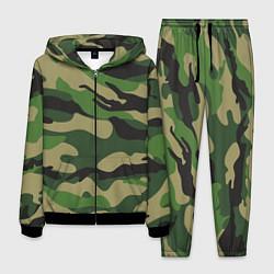 Костюм мужской Камуфляж: хаки/зеленый цвета 3D-черный — фото 1