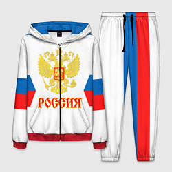 Костюм мужской Сборная РФ: гостевая форма цвета 3D-красный — фото 1