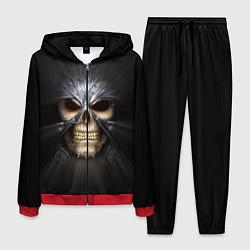Костюм мужской Скелет в маске цвета 3D-красный — фото 1