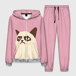 Костюм мужской Grumpy cat pink цвета 3D-меланж — фото 1