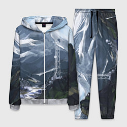 Костюм мужской Горы Алтая цвета 3D-меланж — фото 1