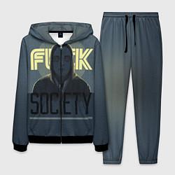 Костюм мужской Fuck Society цвета 3D-черный — фото 1