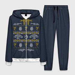 Костюм мужской Новогодний свитер Чужой цвета 3D-белый — фото 1