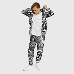 Костюм мужской Полосатая зебра цвета 3D-меланж — фото 2