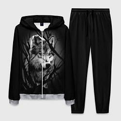 Костюм мужской Серый волк цвета 3D-меланж — фото 1