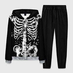 Костюм мужской Floral Skeleton цвета 3D-меланж — фото 1