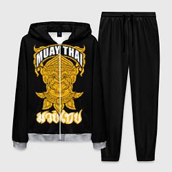 Костюм мужской Muay Thai Fighter цвета 3D-меланж — фото 1