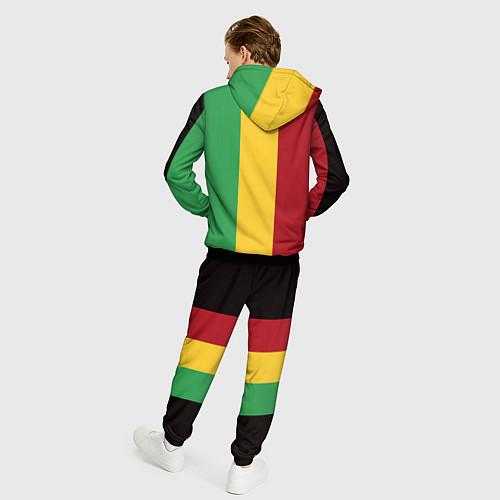 Мужской костюм Боб Марли / 3D-Черный – фото 4