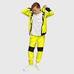 Костюм мужской BVB FC: Yellow line цвета 3D-черный — фото 2