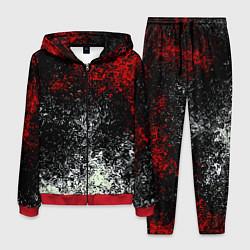 Костюм мужской Взрыв красок цвета 3D-красный — фото 1