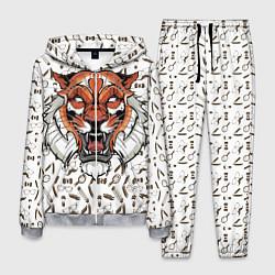 Костюм мужской Тигр-барбер цвета 3D-меланж — фото 1