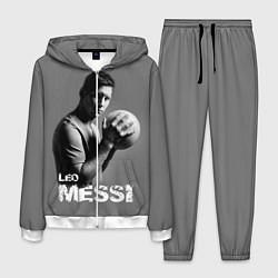 Костюм мужской Leo Messi цвета 3D-белый — фото 1