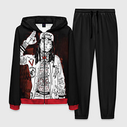 Костюм мужской Lil Wayne: street style цвета 3D-красный — фото 1