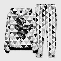 Костюм мужской Snake Geometric цвета 3D-черный — фото 1