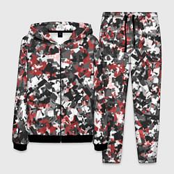 Костюм мужской Камуфляж: серый/красный цвета 3D-черный — фото 1