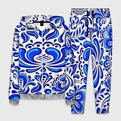 Костюм мужской Роспись гжель цвета 3D-меланж — фото 1