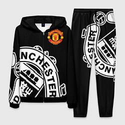 Костюм мужской Man United: Black Collection цвета 3D-черный — фото 1