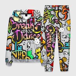 Костюм мужской Break Show Dance цвета 3D-меланж — фото 1