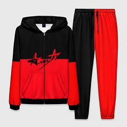 Костюм мужской АлисА: Черный & Красный цвета 3D-черный — фото 1