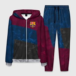 Костюм мужской FC Barcelona: Dark polygons цвета 3D-меланж — фото 1