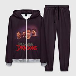 Костюм мужской Группа Imagine Dragons цвета 3D-меланж — фото 1
