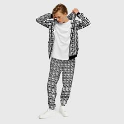 Костюм мужской BTS K-pop pattern цвета 3D-черный — фото 2