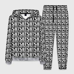 Костюм мужской BTS K-pop pattern цвета 3D-меланж — фото 1