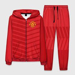 Костюм мужской FC Manchester United: Reverse цвета 3D-красный — фото 1