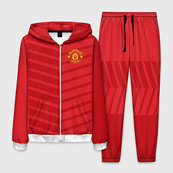 Костюм мужской FC Manchester United: Reverse цвета 3D-белый — фото 1