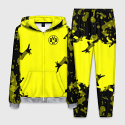 Костюм мужской FC Borussia Dortmund: Yellow Original цвета 3D-меланж — фото 1