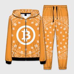 Костюм мужской Bitcoin Mandala цвета 3D-черный — фото 1