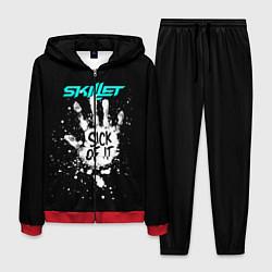 Костюм мужской Skillet: Sick of it цвета 3D-красный — фото 1