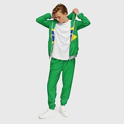 Костюм мужской Сборная Бразилии: зеленая цвета 3D-меланж — фото 2