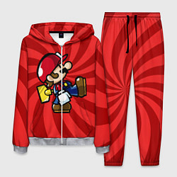 Костюм мужской Super Mario: Red Illusion цвета 3D-меланж — фото 1