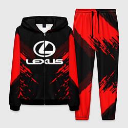Костюм мужской Lexus: Red Anger цвета 3D-черный — фото 1