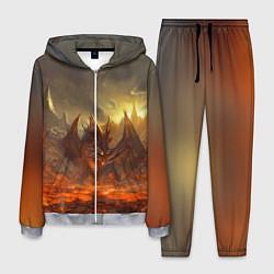 Костюм мужской Linage II: Fire Dragon цвета 3D-меланж — фото 1
