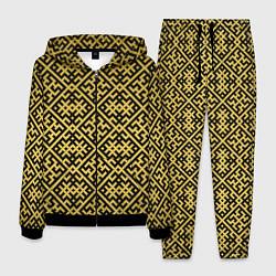 Костюм мужской Духобор: Обережная вышивка цвета 3D-черный — фото 1