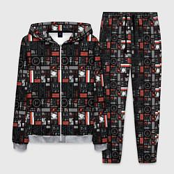 Костюм мужской Twenty One Pilots: Pattern цвета 3D-меланж — фото 1