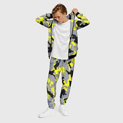 Костюм мужской Yellow & Grey Camouflage цвета 3D-черный — фото 2