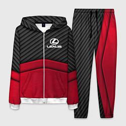 Костюм мужской Lexus: Red Carbon цвета 3D-белый — фото 1