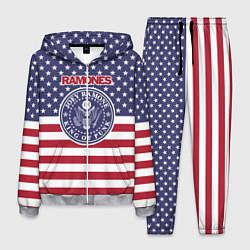 Костюм мужской Ramones USA цвета 3D-меланж — фото 1