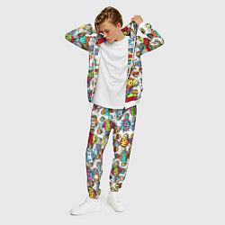 Костюм мужской Pop art Fashion цвета 3D-белый — фото 2