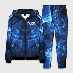 Костюм мужской Mass Effect: Blue Armor N7 цвета 3D-черный — фото 1