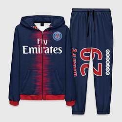 Костюм мужской FC PSG Mbappe 18-19 цвета 3D-красный — фото 1