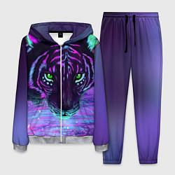 Костюм мужской Неоновый тигр цвета 3D-меланж — фото 1
